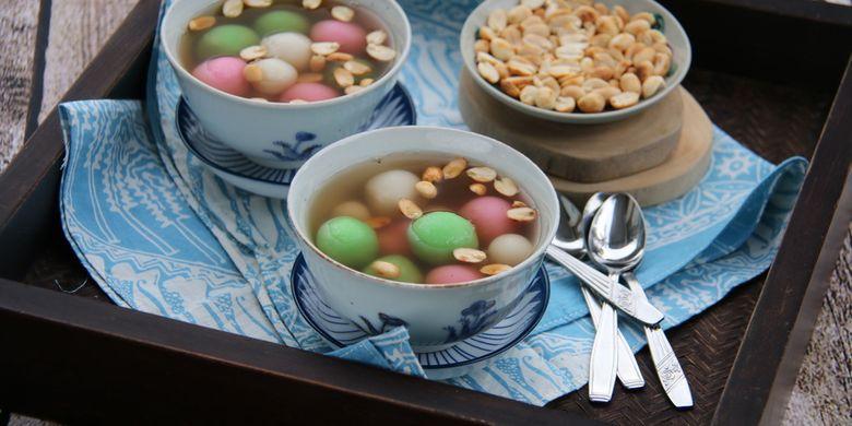 cara membuat wedang ronde isi kacang