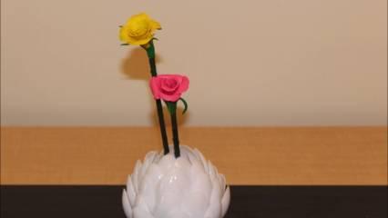 cara membuat vas bunga dari sendok plastik